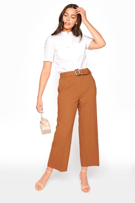 Tall Culottes Brown Belted Culotte Trousers