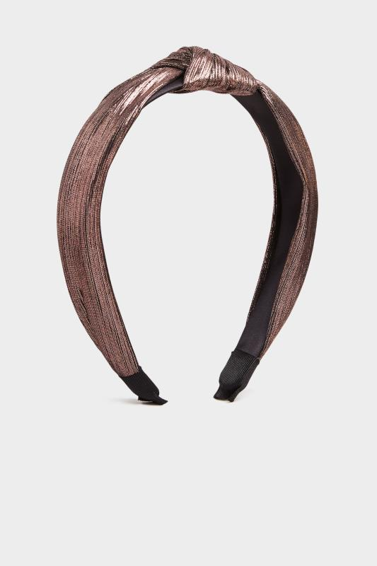 Pink Metallic Knot Headband