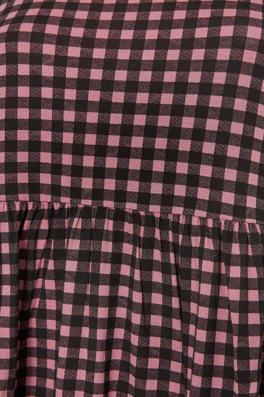 LIMITED COLLECTION Pink & Black Gingham Smock Top_S.jpg
