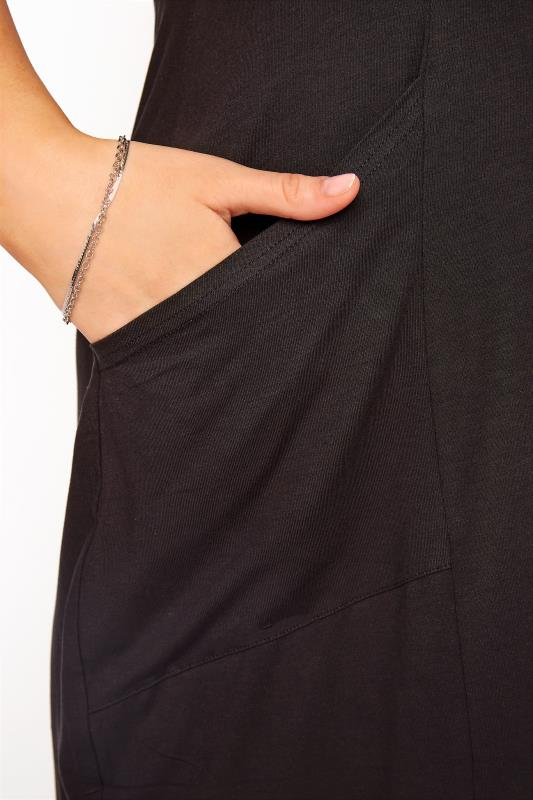 SUSTAINABLE ORGANIC Black Drape Pocket Dress_D.jpg