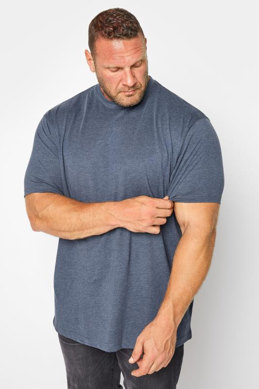 Men's T-Shirts KAM Indigo Blue Plain T-Shirt