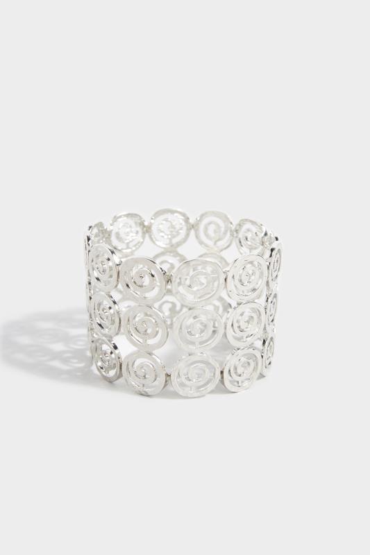 Silver Stretch Circle Bracelet