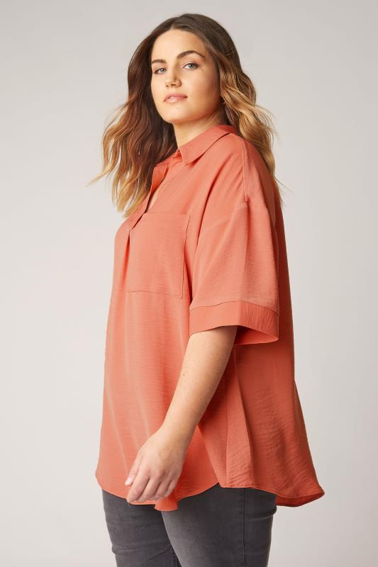 THE LIMITED EDIT Orange Pleated Front Top_A.jpg