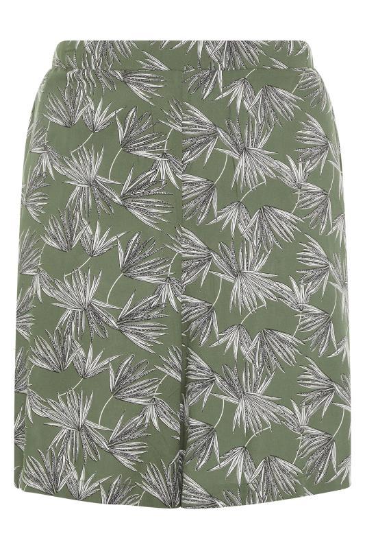Khaki Palm Print Crinkle Shorts_F.jpg