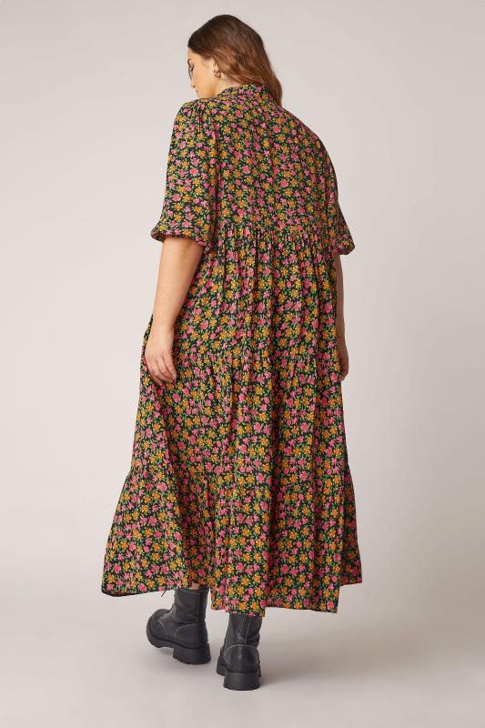 THE LIMITED EDIT Black Ditsy Tiered Dress_C.jpg