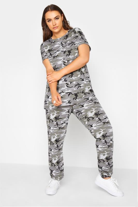 Grande Taille LIMITED COLLECTION Grey Camo Lounge Joggers