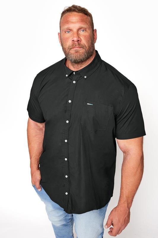 BadRhino Black Cotton Poplin Short Sleeve Shirt_M.jpg