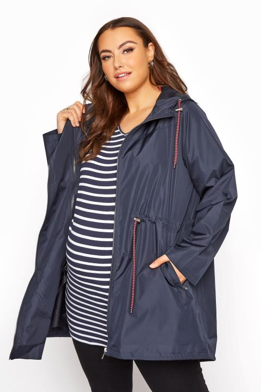 Plus Size  BUMP IT UP MATERNITY Navy Pocket Parka
