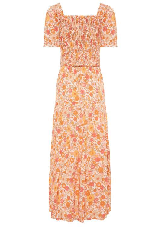 LTS Orange Short Sleeve Floral Maxi Dress_bk.jpg