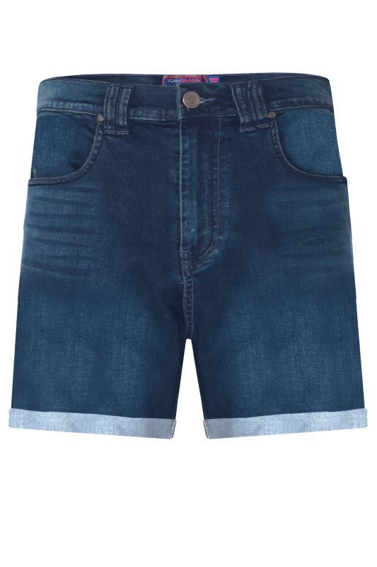 Men's  Kam Mid Wash Denim Stretch Shorts
