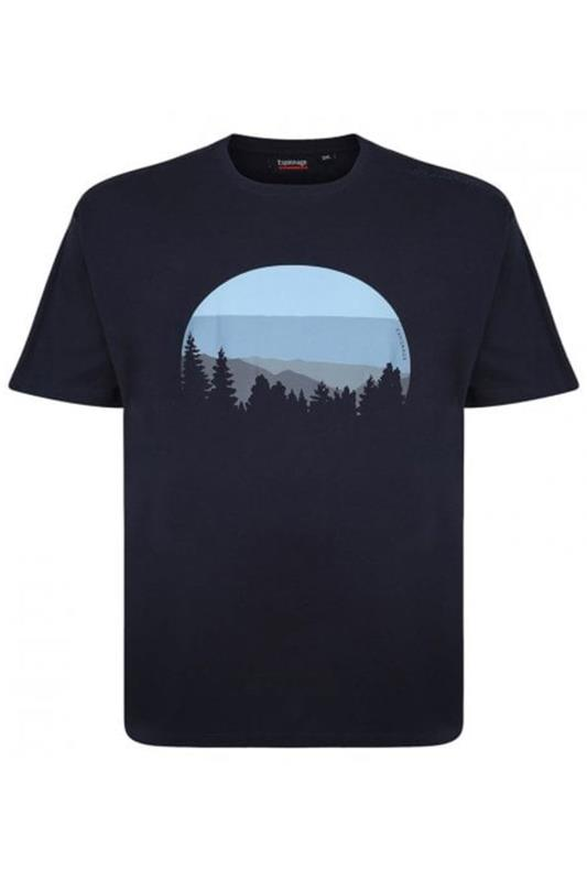 Plus Size Casual / Every Day ESPIONAGE Navy Forest Graphic Print T-Shirt
