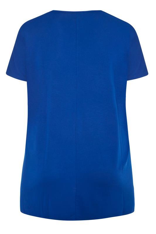 Cobalt Blue Dipped Hem T-Shirt_BK.jpg