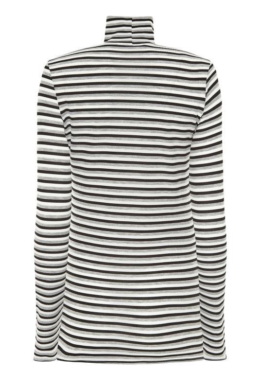 LTS Grey Stripe Ribbed Roll Neck Top_BK.jpg