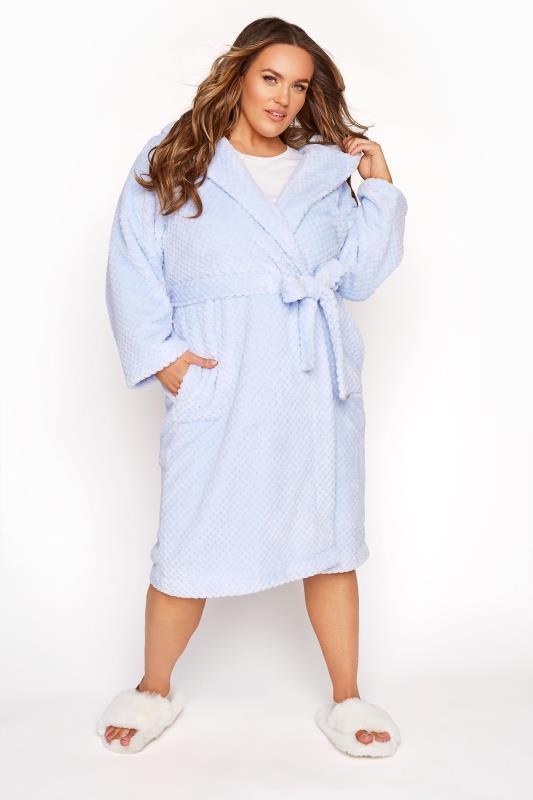 Powder Blue Honeycomb Robe
