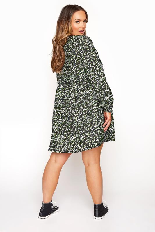 LIMITED COLLECTION Black & Green Ditsy Tea Dress_C.jpg