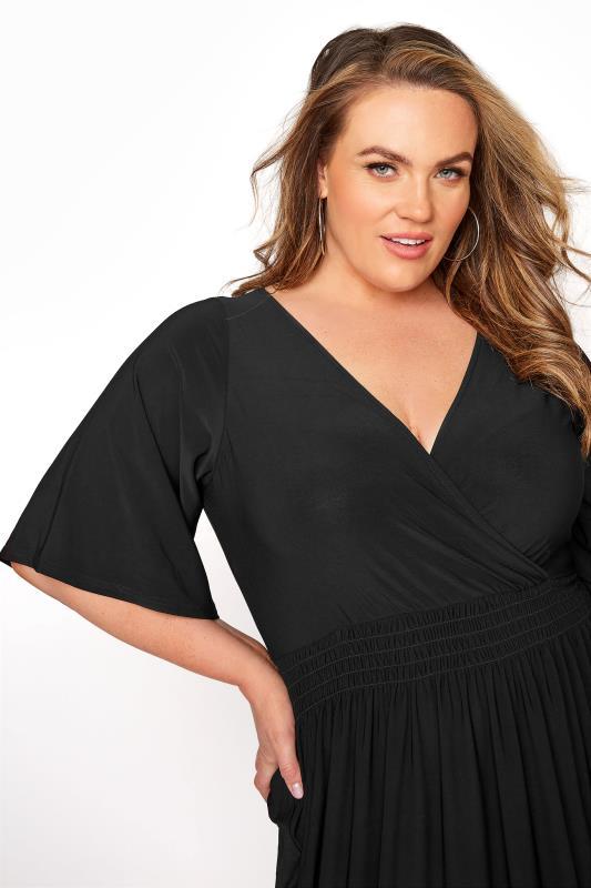 YOURS LONDON Black Wrap Midaxi Dress_D.jpg