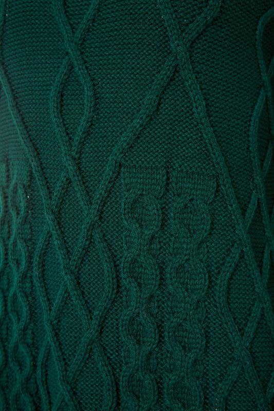LTS Forest Green Cable Knit Jumper_S.jpg
