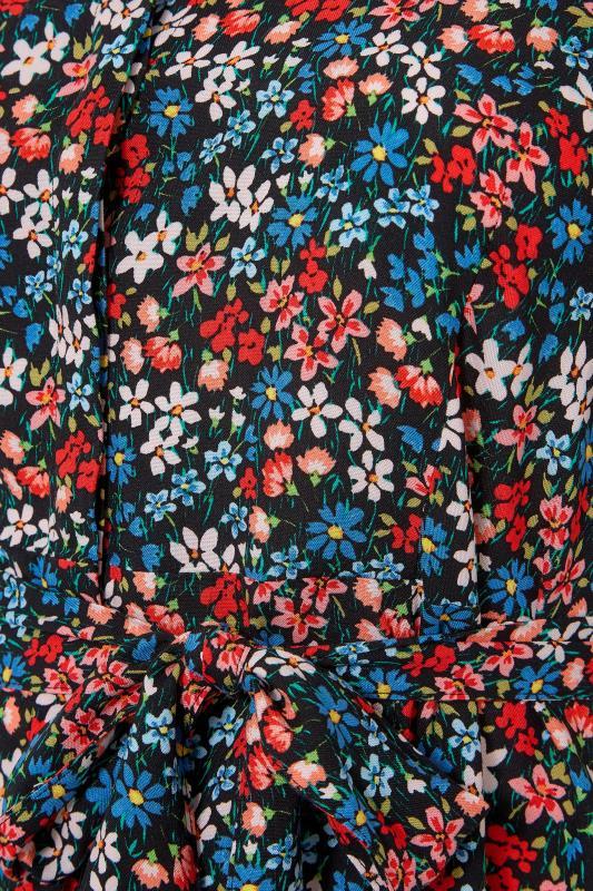 THE LIMITED EDIT Black Floral Print Shirt Mini Dress_S.jpg