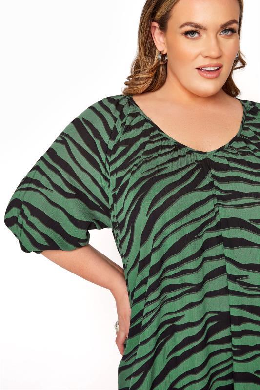 LIMITED COLLECTION Green Zebra Print Midaxi Dress_D.jpg