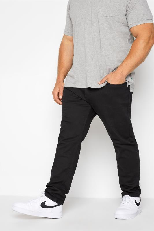 D555 Black Tapered Stretch Jeans_B.jpg