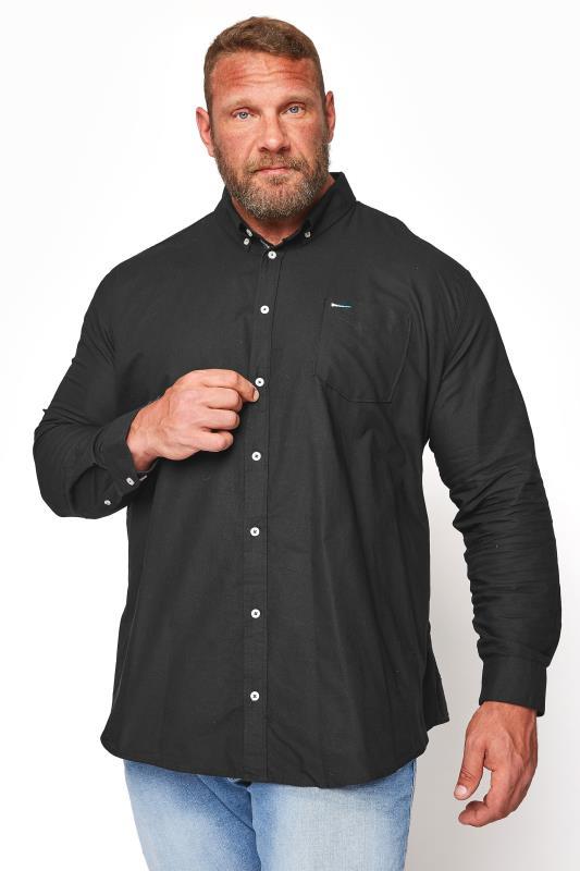 Men's  BadRhino Black Essential Long Sleeve Oxford Shirt