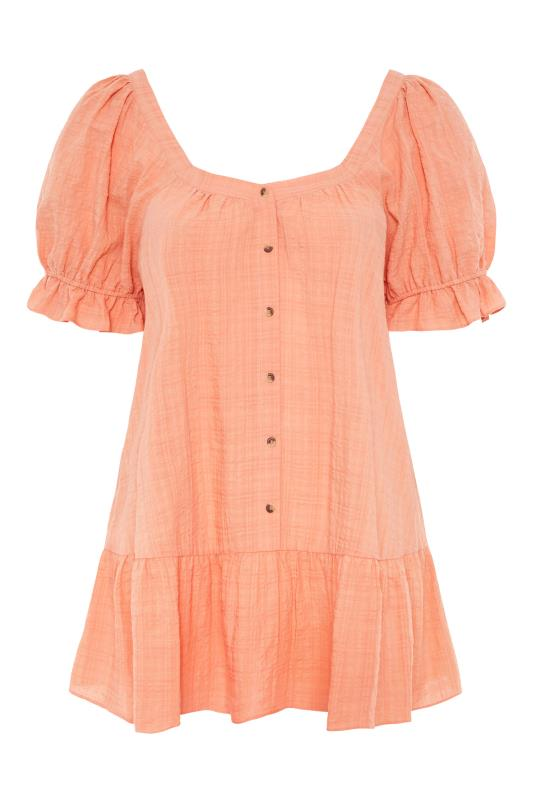 THE LIMITED EDIT Coral Puff Sleeve Tunic_F.jpg