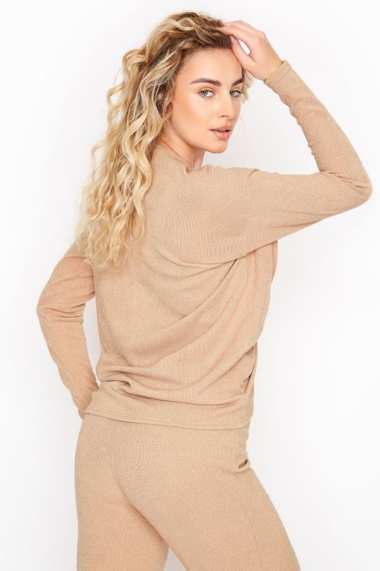 LTS Stone Ribbed Ruched Co-ord Top