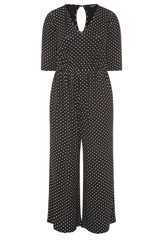LIMITED COLLECTION Black Polka Dot Jumpsuit_F.jpg