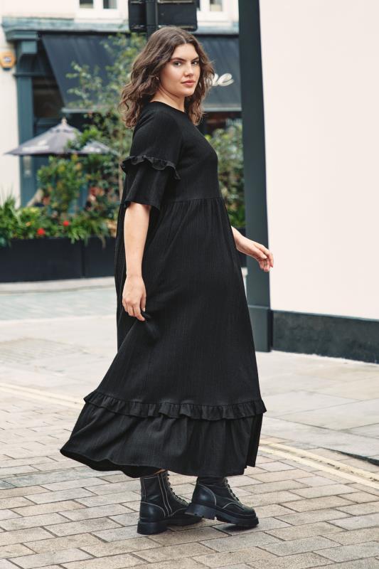 THE LIMITED EDIT Black Smock Midaxi Dress_L.jpg