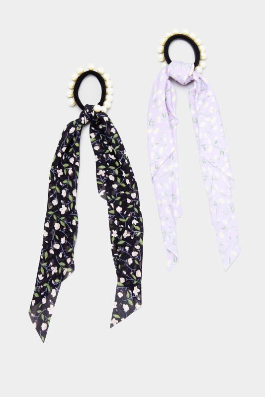 2 PACK Black Pearl Trim Long Scrunchies_C.jpg