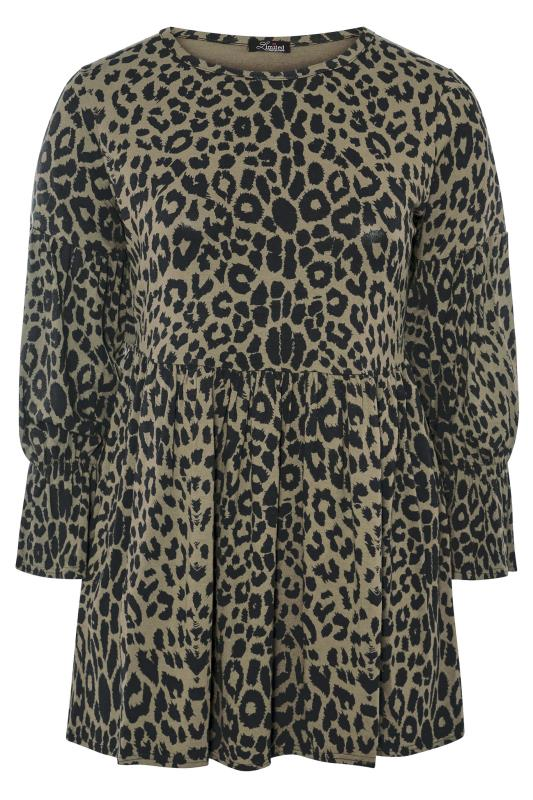 LIMITED COLLECTION Winter Sage Leopard Peplum Top