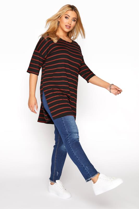 Black Rust Stripe Oversized T-Shirt_B.jpg