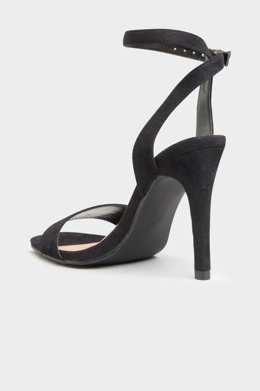 LIMITED COLLECTION Black Strappy Two Part Heels In Extra Wide Fit_C.jpg