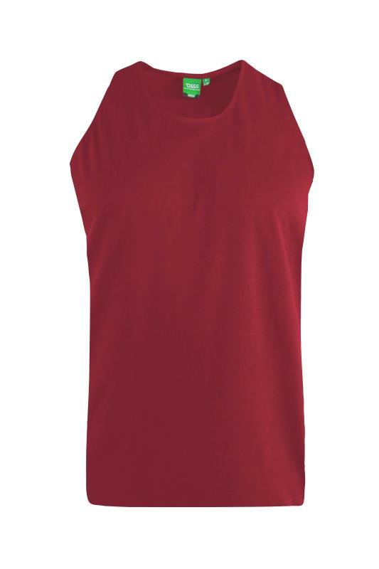 Men's  D555 Red Muscle Vest