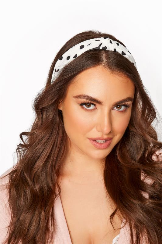 White Polka Dot Twist Knot Headband_M.jpg