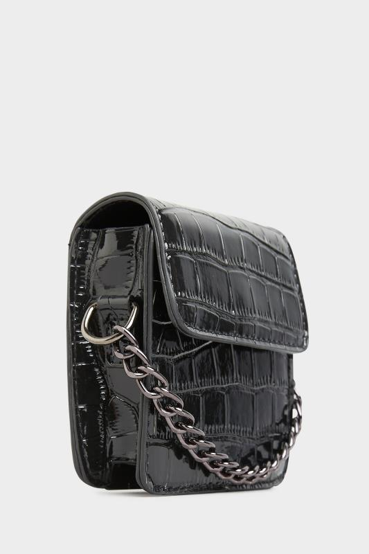 Black Croc Chain Mini Cross Body Bag_D.jpg