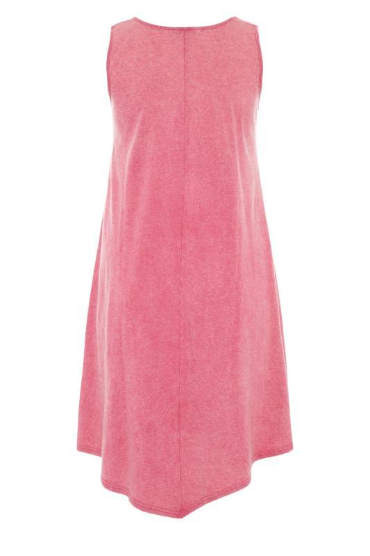 Pink Acid Wash Hanky Hem Sleeveless Dress_bk.jpg