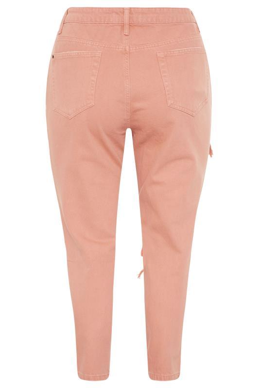 Blush Pink Extreme Distressed MOM Jeans_BK.jpg