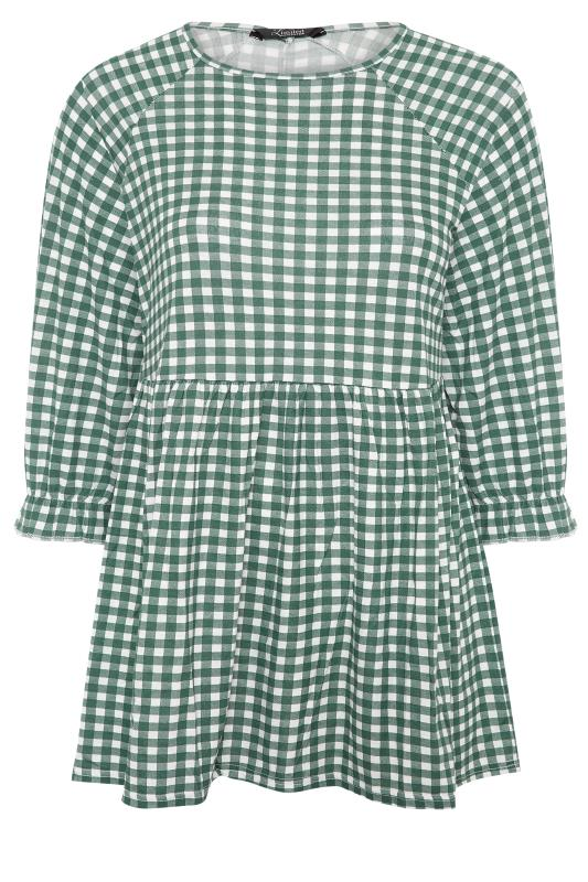 LIMITED COLLECTION Green & White Gingham Smock Top_F.jpg