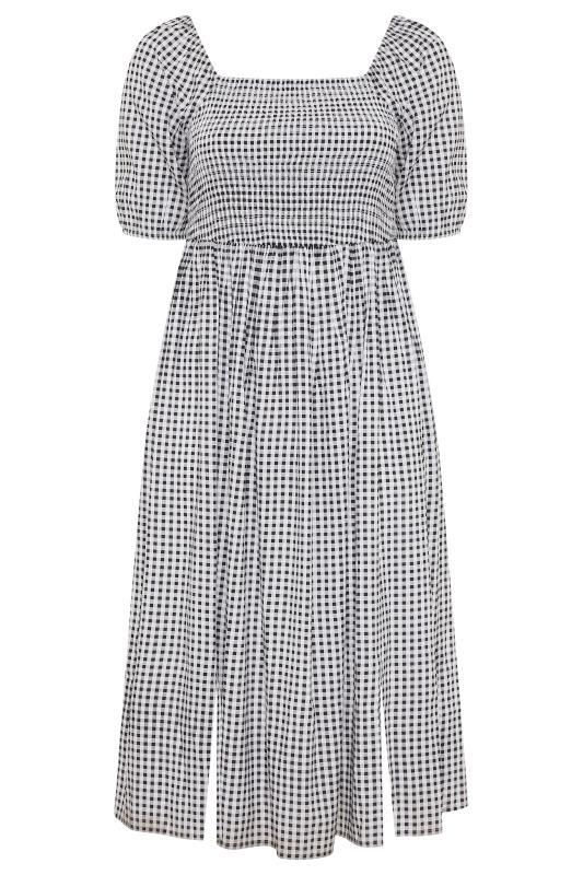 Black Gingham Shirred Midaxi Dress_F.jpg
