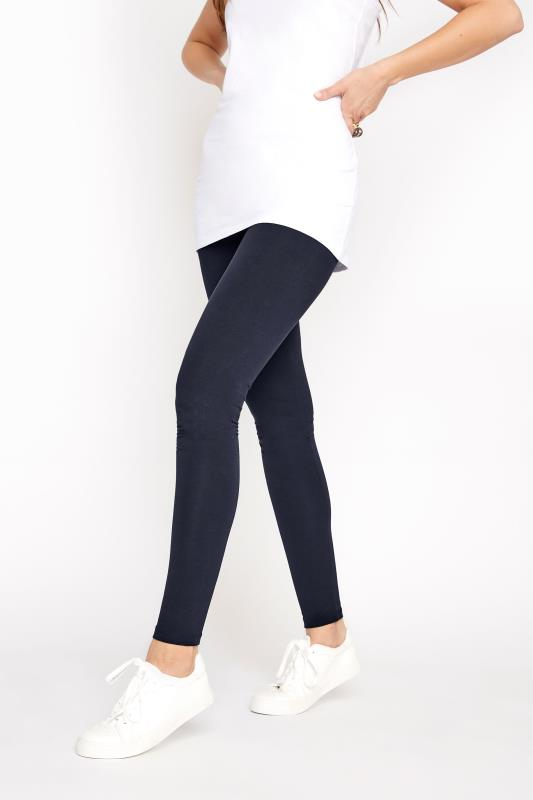 Navy Cotton Stretch Leggings_B.jpg