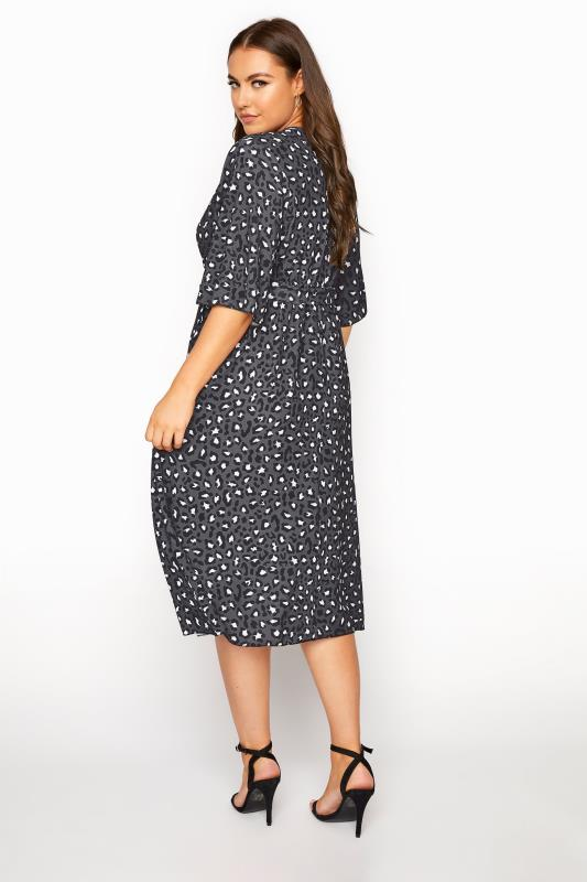 YOURS LONDON Grey Leopard Midi Wrap Dress_C.jpg