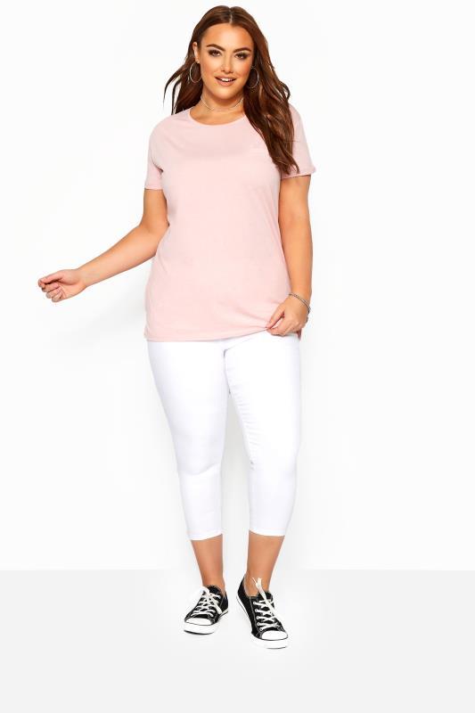 Plus Size Jeggings White Cropped JENNY Jeggings