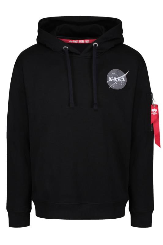 Plus Size Casual / Every Day ALPHA INDUSTRIES Black NASA Space Shuttle Hoodie