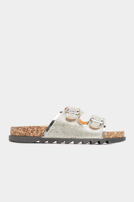 Silver Sparkle Footbed Sandal In Wide Fit_B.jpg