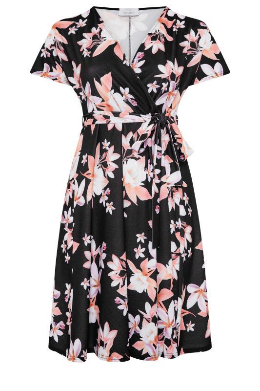 YOURS LONDON Black Floral Wrap Midi Dress_F.jpg
