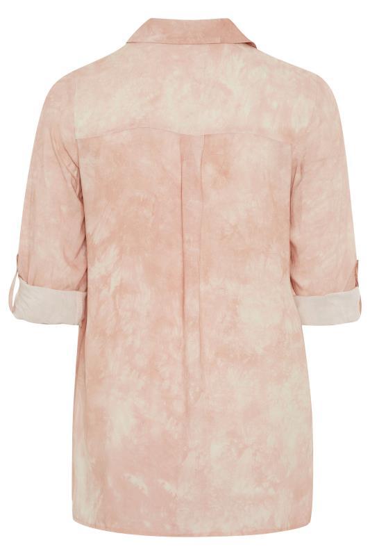 Pastel Pink Tie Dye Longline Shirt