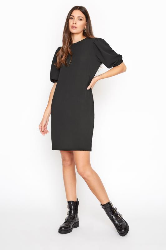 Tall  LTS Black Puff Sleeve Tunic Dress