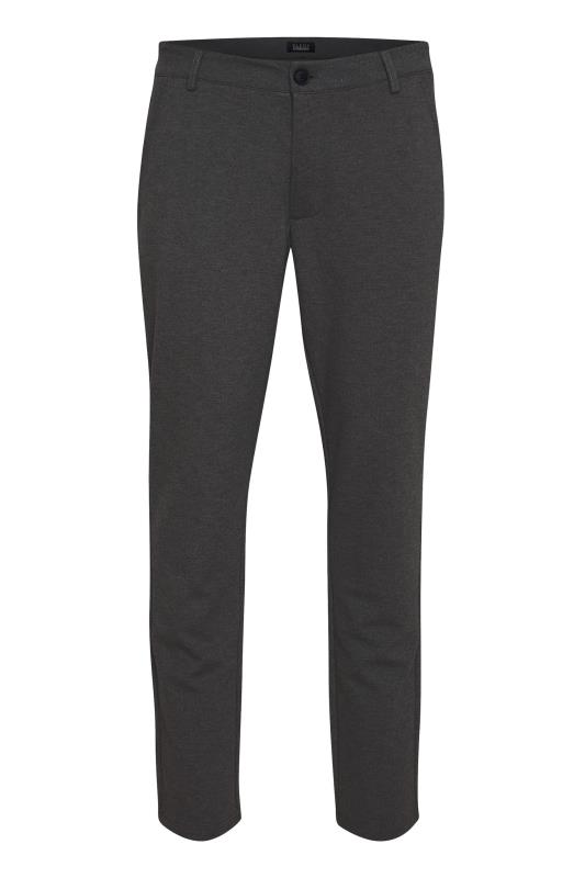 Plus Size Casual / Every Day BLEND Charcoal Grey Casual Trousers
