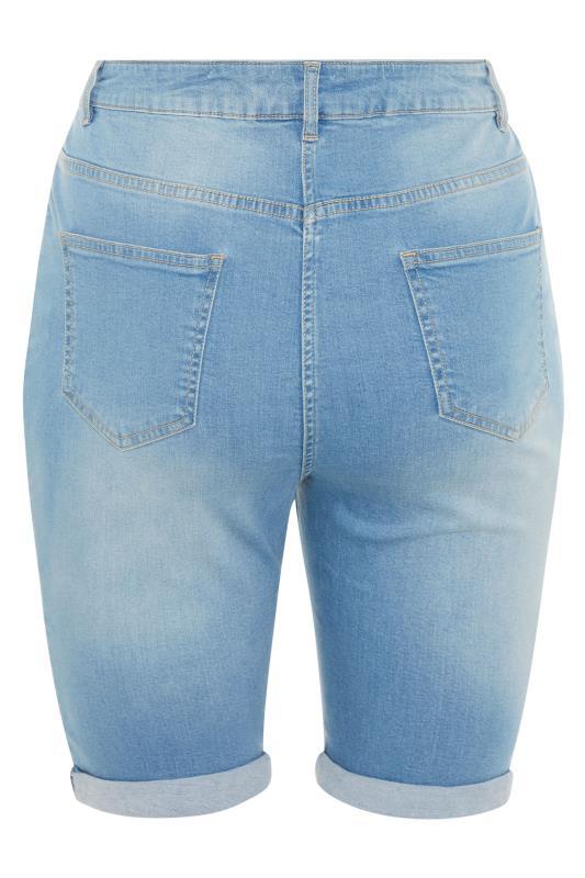 Bleach Blue Cat Scratch Denim Shorts_BK.jpg